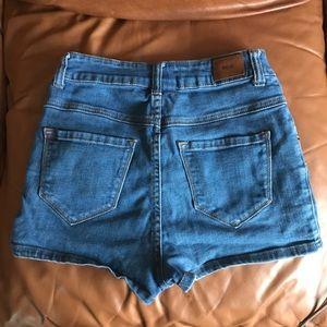BDG Jean HighWaisted Seam Short Shorts